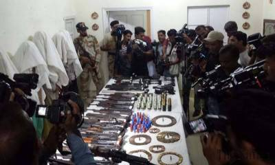 Punjab Rangers arrests 43 suspects along with weapons cache