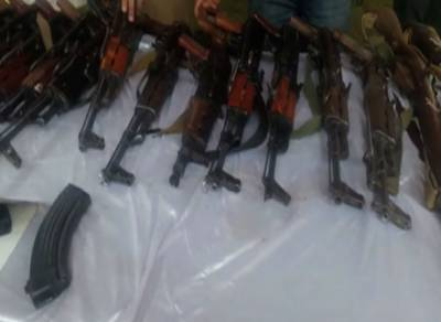 KP Police recover huge cache of heavy weapons including Rocket launchers