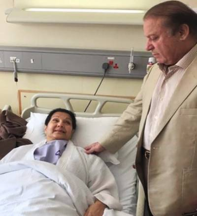 Kulsoom Nawaz underwent throat surgery in London
