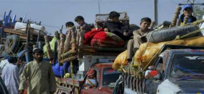 Hundreds of Pakistani IDP families return back from Afghanistan