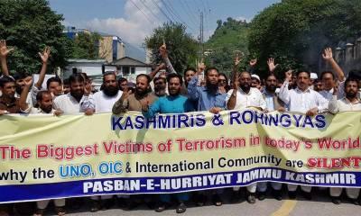 Kashmiris stand against the Rohingya Muslims atrocities