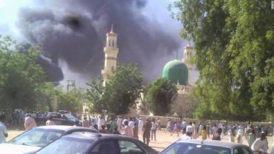 12 years old suicide bomber girl explodes in the mosque in Cameron