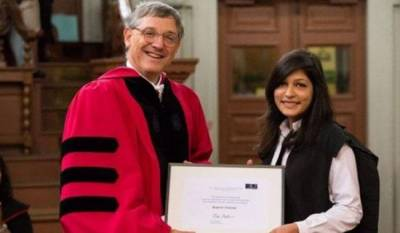 Pakistan's Kanza Azeemi achieves highest honour at Oxford University