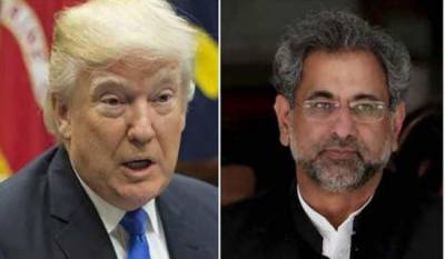 PM Shahid Khaqan brief meeting with US President Donald Trump