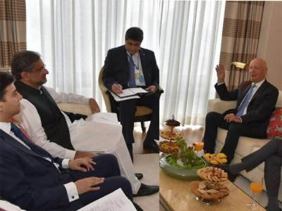 PM Shahid Khaqan meets UN Secretary General in New York