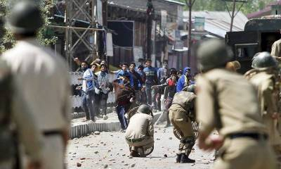 Three civilians killed, thirty injured in blast and Indian police fire in occupied Kashmir
