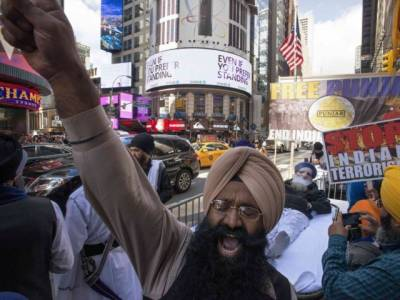 India embarrassed at UN as Sikhs stage massive anti India show in Times Square New York