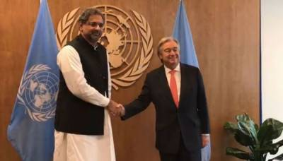 Pakistan PM hands over UN Chief the dossier of Indian ceasefire and human rights violations in occupied Kashmir
