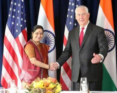 Sushma Swaraj discusses Pakistan-Afghanistan with US Secretary of State