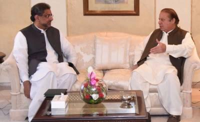 PM Shahid Khaqan meets Nawaz Sharif in Islamabad