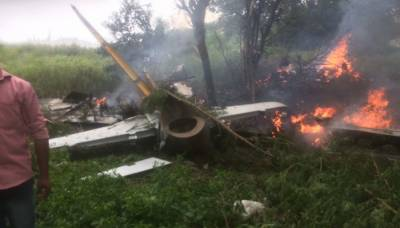 IAF jet crashes in Telangana