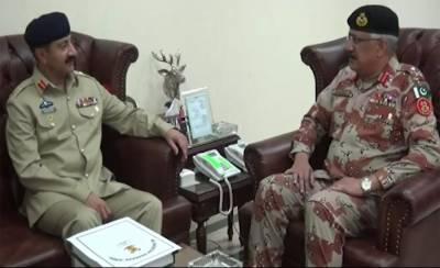 Corps Commander Karachi briefed at Rangers Headquarters over security matters
