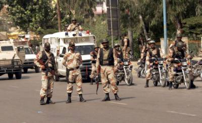 Sindh Rangers recover huge cache of weapons from MQM-London office