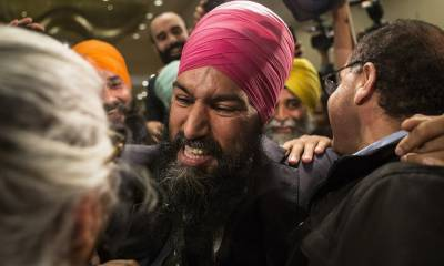 Jagmeet Singh becomes the first Sikh to lead the third largest party in Canada