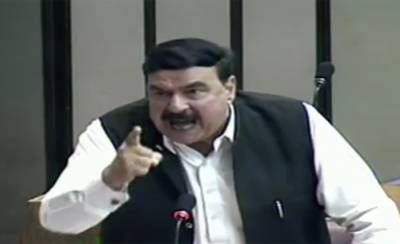 Sheikh Rashid lashes out at government move in the National Assembly