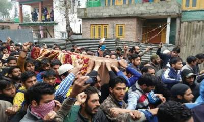 Indian Police martyrs four Kashmiris in fake encounters