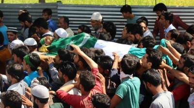 INDIAN TROOPS MARTYRED 8 KASHMIRI YOUTH IN SRINAGAR, KUPWARA AND BARAMULLA DISTRICTS