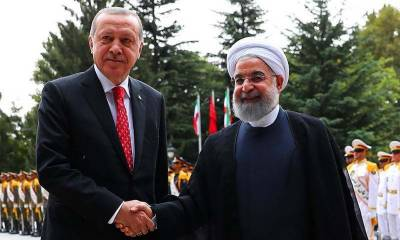 Tayyip Erdogan lands in Tehran in a sign of warming Turkey - Iran ties