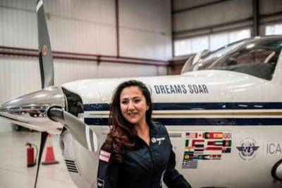 Afghan American pilot completes around the world solo flight