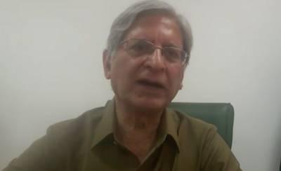 SC monitoring judge should take notice of NAB mix up with Sharif family: Aitzaz Ahsan
