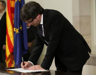Catalan leader declare independence from Spain