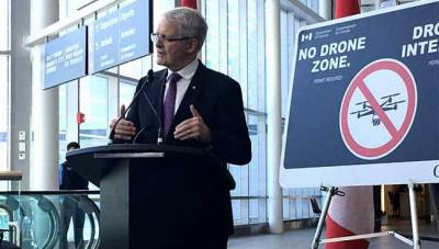 Drone hit Canadian airliner: minister
