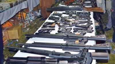 Sindh Rangers raid vacant house, recover arms