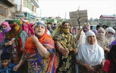 Braid-Cutting incidents trigger protests, clashes in different areas in Occupied Kashmir