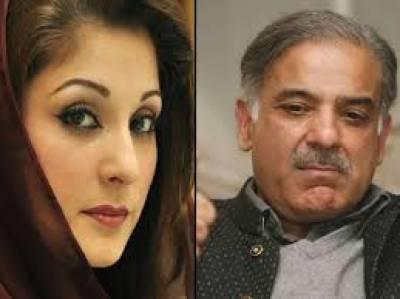 Maryam Nawaz - Shahbaz Sharif meeting inside tale