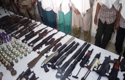 Sindh Rangers recover hidden weapons from graveyard