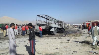 Seven police personnel were martyred in a suicide bomb blast in Quetta