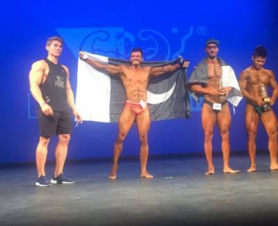 Pakistan's bodybuilder Osaf Yaqoob wins 2017 Musclemania Asia Tournament