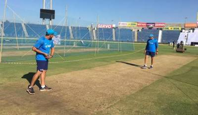 BCCI officials caught tampering the pitch ahead of ODI against New Zealand