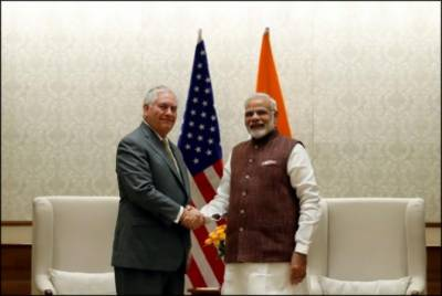India defends ties with North Korea, Iran in talks with Tillerson