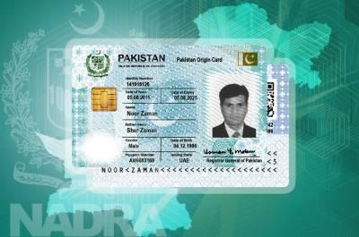 Pakistan Origion Cards for overseas Pakistanis restored by NADRA