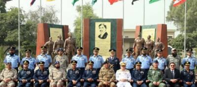 Coas Gen Qamar Javed Bajwa visits PAF base Mushaf Sargodha