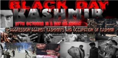 Kashmiris all over world observing black day today to mark illegal Indian occupation of Jammu & Kashmir