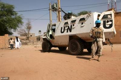 Three UN soldiers killed, two hurt in landmine blast