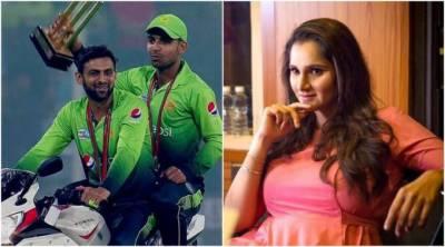 Shoaib Malik - Sania Mirza unique way of celebrations on tweets