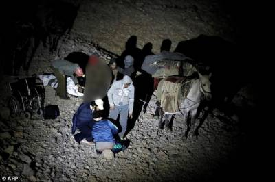 Arriving on donkeys, Syrian war wounded seek Israeli help