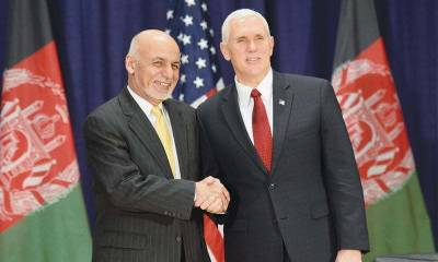 Ashraf Ghani discusses US South Asia strategy with Mike Pence