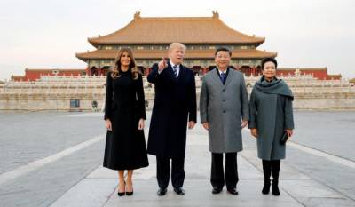 Donald Trump welcomed by Xi JinPing in China's forbidden city