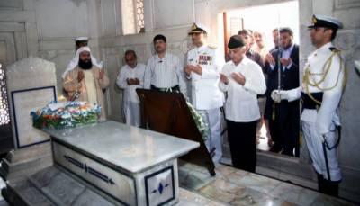 Governor, CM Punjab visit Mazar-e-Iqbal in Lahore