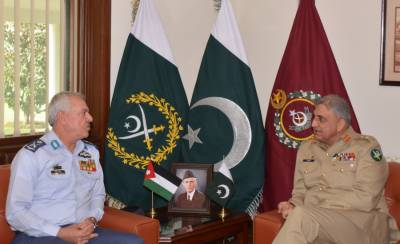 Jordanian Army Chief calls on COAS General Qamar Bajwa