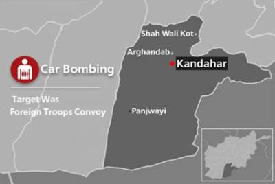 US - NATO troops convoy attacked with suicide bombing in Kandahar