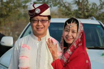 Chinese couple marries in Pakistan with Pashtoon culture traditions