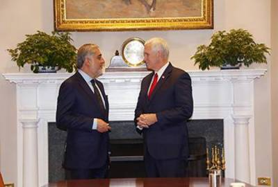 Afghan CEO raises issue of terrorists safe heavens in Pakistan with US Vice President