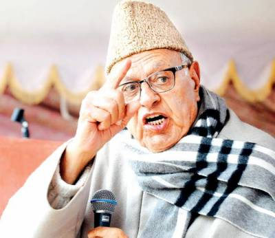 Pro India CM Farooq Abdullah warns of India splitting into pieces under BJP
