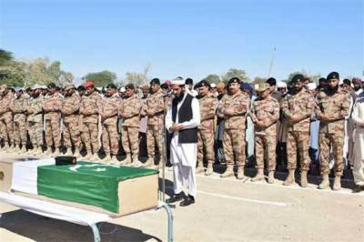 Martyred FC soldier Nasir Mehmood funeral prayers offered