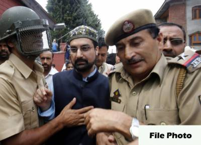 Hurriyat forum denounces house detention of Mirwaiz